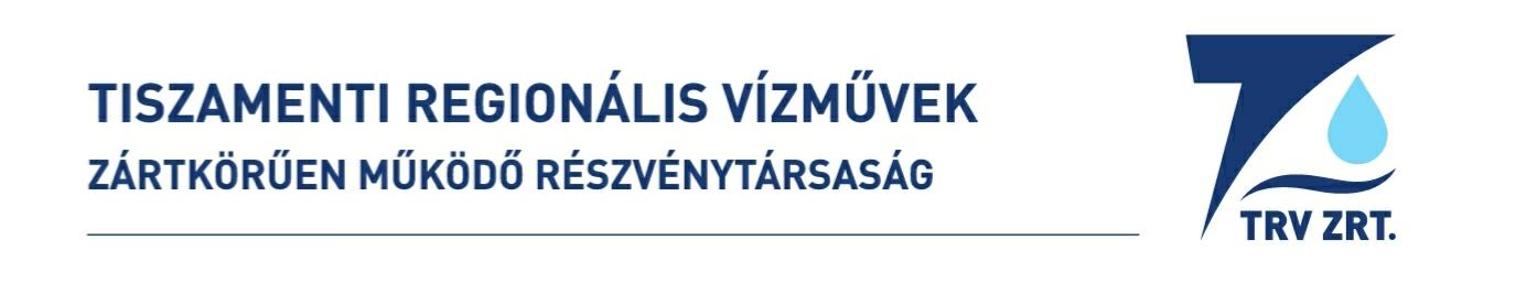 A Tiszamenti Regionális Vízművek Zrt. közleménye